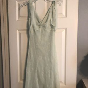 Light Mint green dress w/ sheer & sparkle overlay